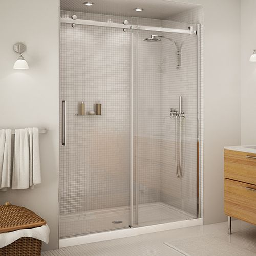 Halo 60 Clear Glass Chrome Shower Door By Maax Tub Doors