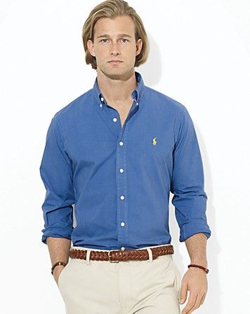 Polo Ralph Lauren Custom Poplin Sport Shirt - Slim Fit | Bloomingdale's