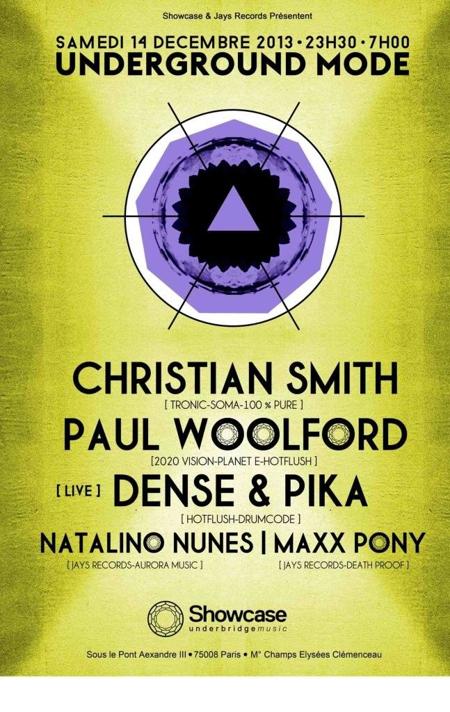 Underground Mode | Showcase | Paris | https://beatguide.me/paris/event/showcase-underground-mode-christian-smith-paul-woolford-more-20131214