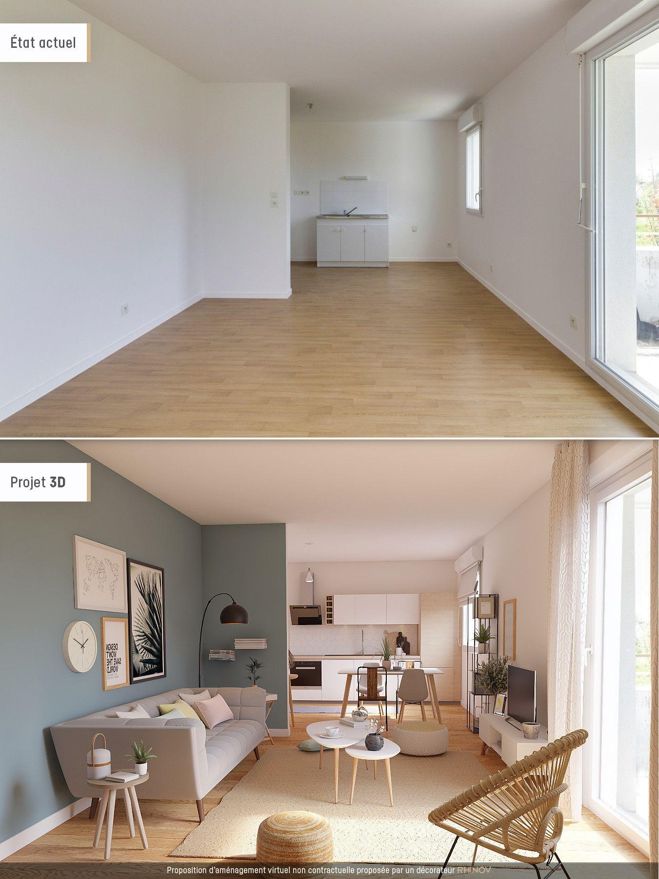 Créer une pièce de vie style nordique  Idée aménagement salon