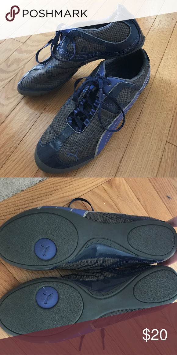 07bc92cff00afc Puma eco ortholite sneakers Grey and blue purple lightweight sneaker. Never  worn Puma Shoes Sneakers