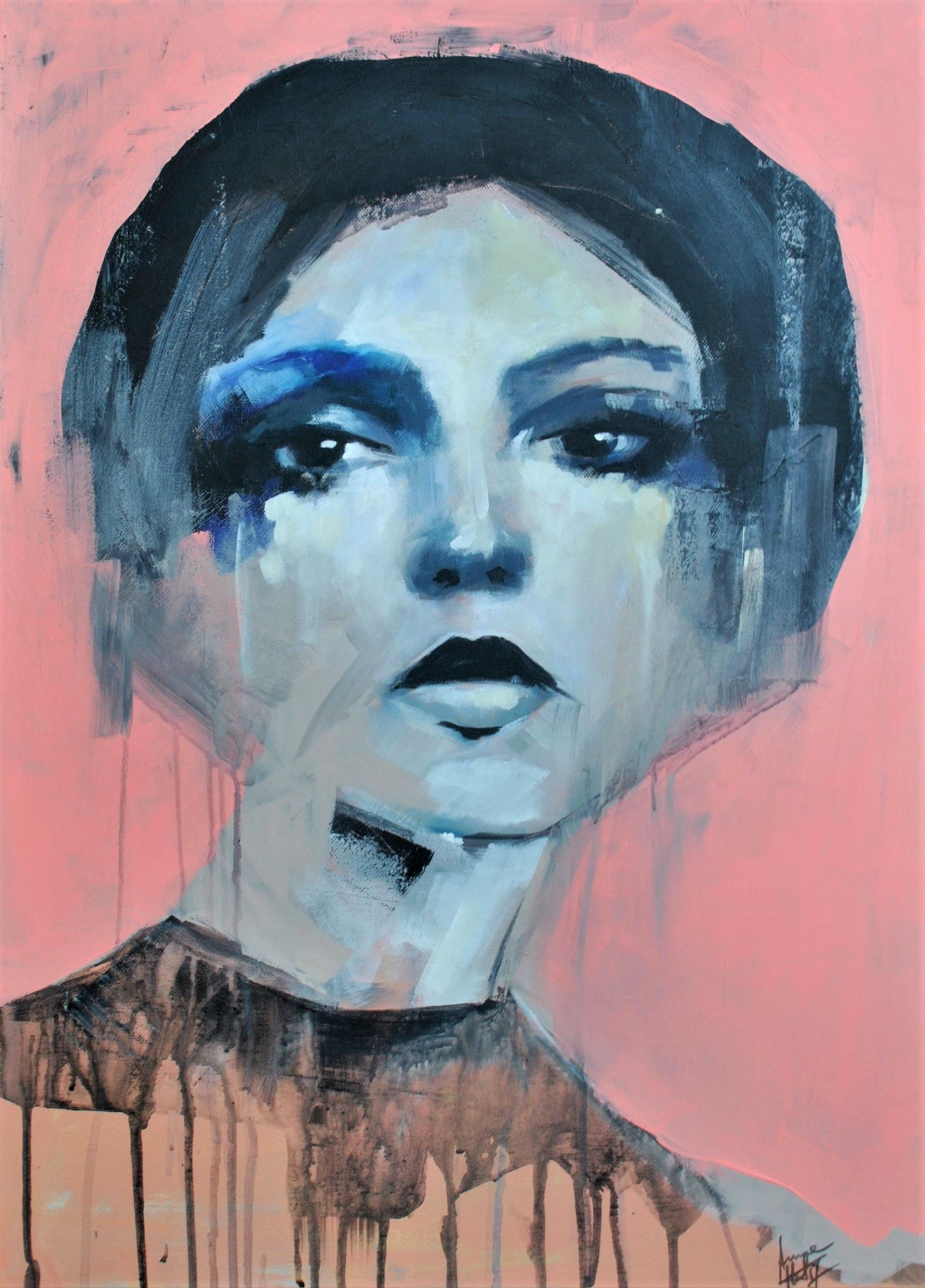 """""""Echo"""", by Anna M. Art, Acrylic painting canvas"""