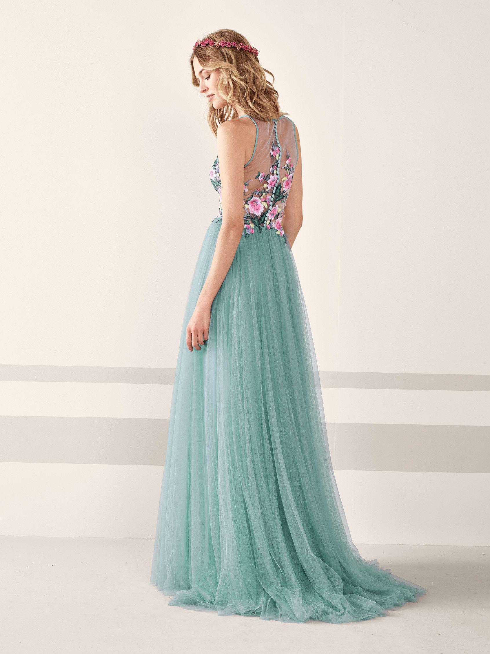 Vestido de fiesta romántico con espalda descubierta JAMIN ...