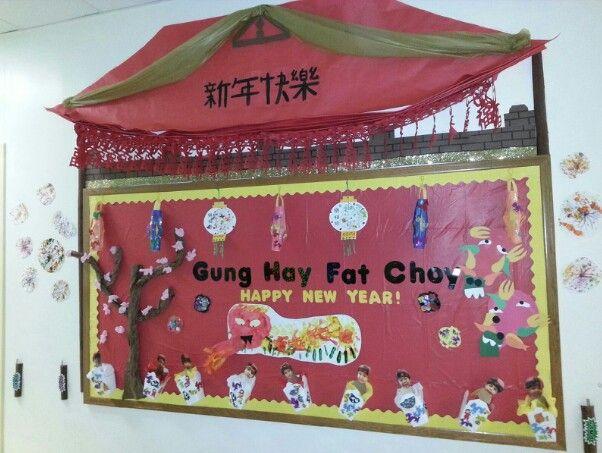 New Year Classroom Decoration Ideas ~ Chinese new year bulletin board boards