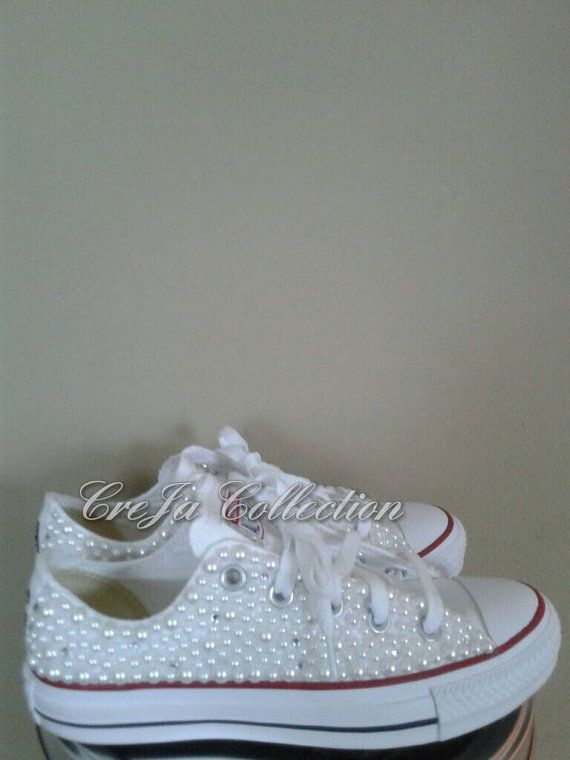 Pearl ConverseCustom Converse Womens by TheCrejaCollection on Etsy ... 2894c85a5