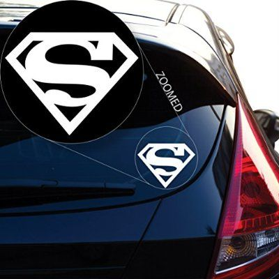 Amazon Com Superman Decal Sticker For Car Window Laptop And More 805 12 X 15 5 White Automotive Decals Stickers Car Stickers Superman