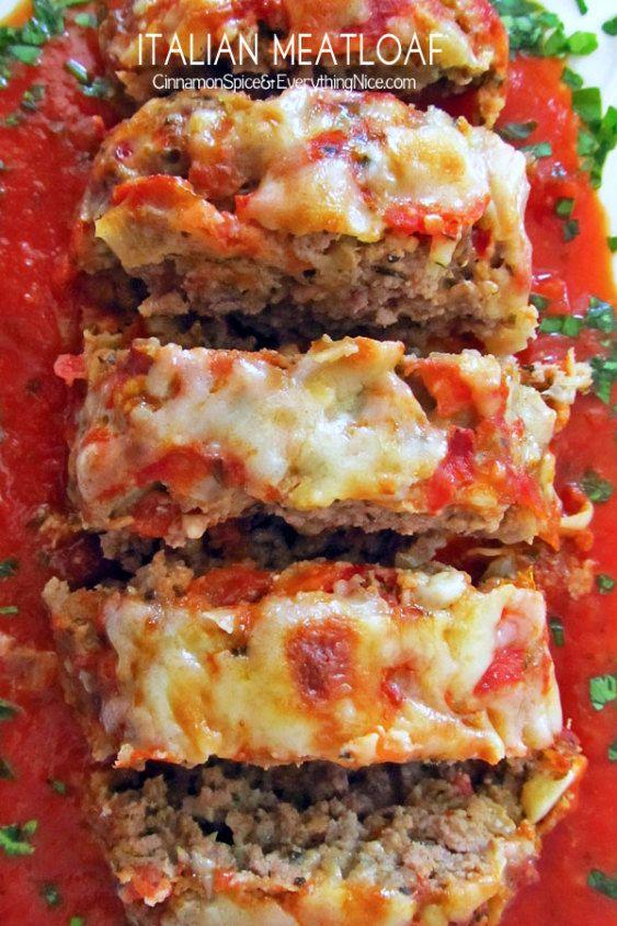 The Best Italian Meatloaf Cinnamon Spice Everything Nice Recipe Italian Meatloaf Recipes Food