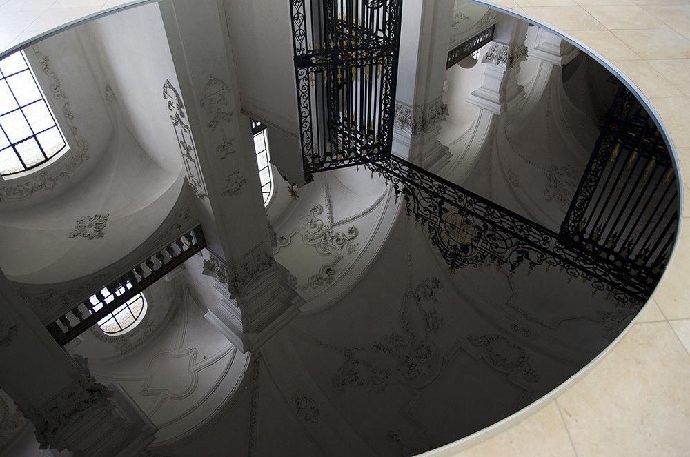 New Readings Of Space: Placing Pools Of Oil Inside A Baroque Abbey Church,© We Find Wildness