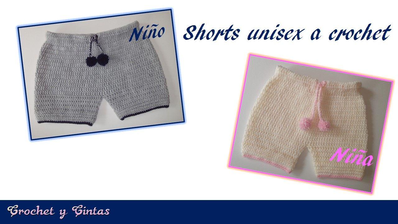 Este pantalón corto esta hecho a crochet. Es ideal para que los ...