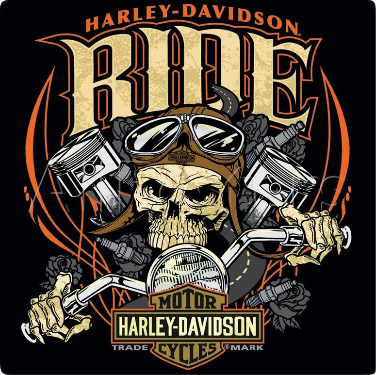 Harley Davidson Ride Bone Sign Tin Sign I Got This One On My Wall. Part 94