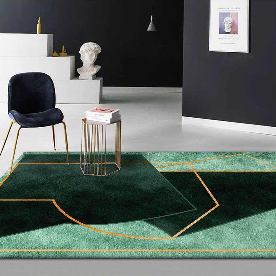 Stylish Modern Dark Green Color Irregular Geometry Pattern Carpet Plush Bedroom Rug Living Room Floor Mat Custom Made Door Mat Carpet Aliexpress Living Room Carpet Rugs In Living Room Green Rug