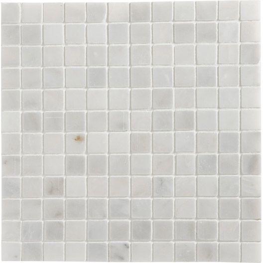 Mosaique Mineral Artens Blanc 2 3x2 3 Cm Carreaux De Sol Sol Et Mur Idee Carrelage