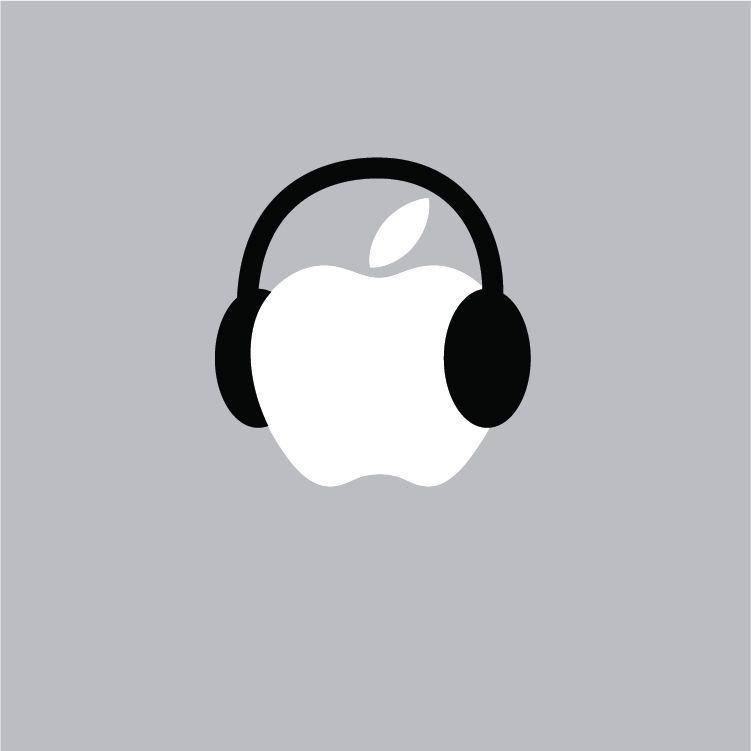 Details About Headphones Mac Apple Logo Laptop Vinyl Decal
