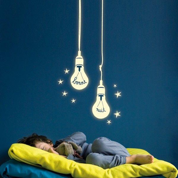 Glow in the dark Bonne Nuit stickers