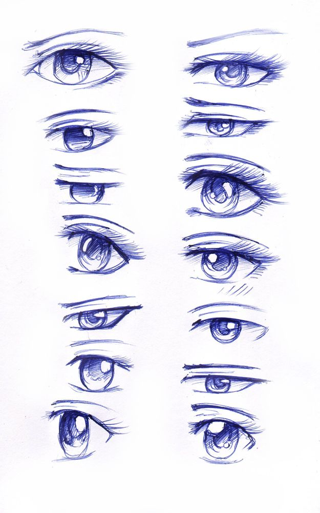 Practicing Different Anime Eye Styles So Here S 60 Of Them Do Note They Are Not In Different Art Styles But In Di Deviantart Drawings Anime Eyes Eye Drawing