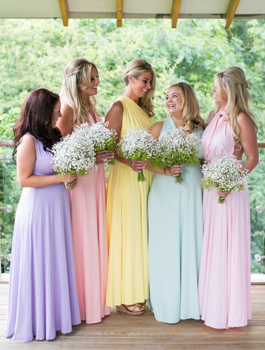 Pretty pastels whats better than a rainbow of colour on your pretty pastels whats better than a rainbow of colour on your wedding day pastel bridesmaid dresseswedding ombrellifo Choice Image