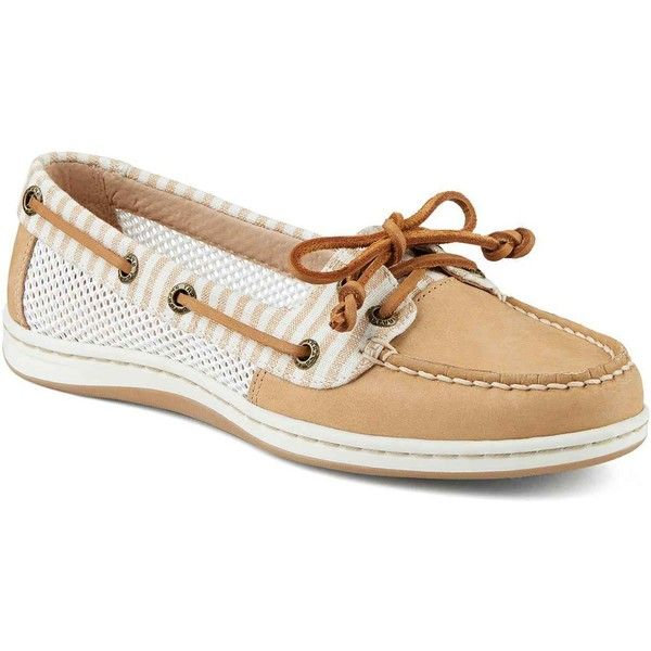 fabe7dafc Sperry Women s Firefish Stripe Mesh Sand Performance Boating Shoes (5.340  RUB) ❤ liked on