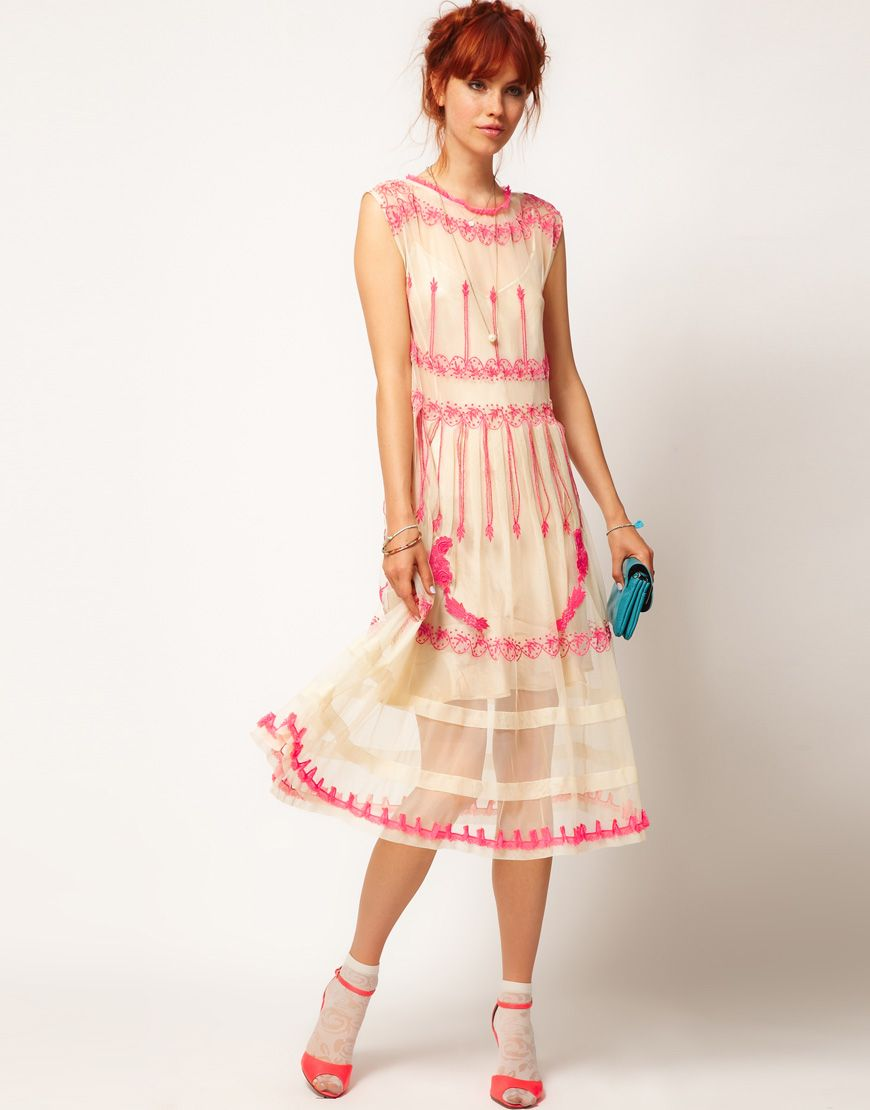 Summer dresses to wear to a wedding  Embroidered mesh dress Itus finally here From ASOS wedding  you