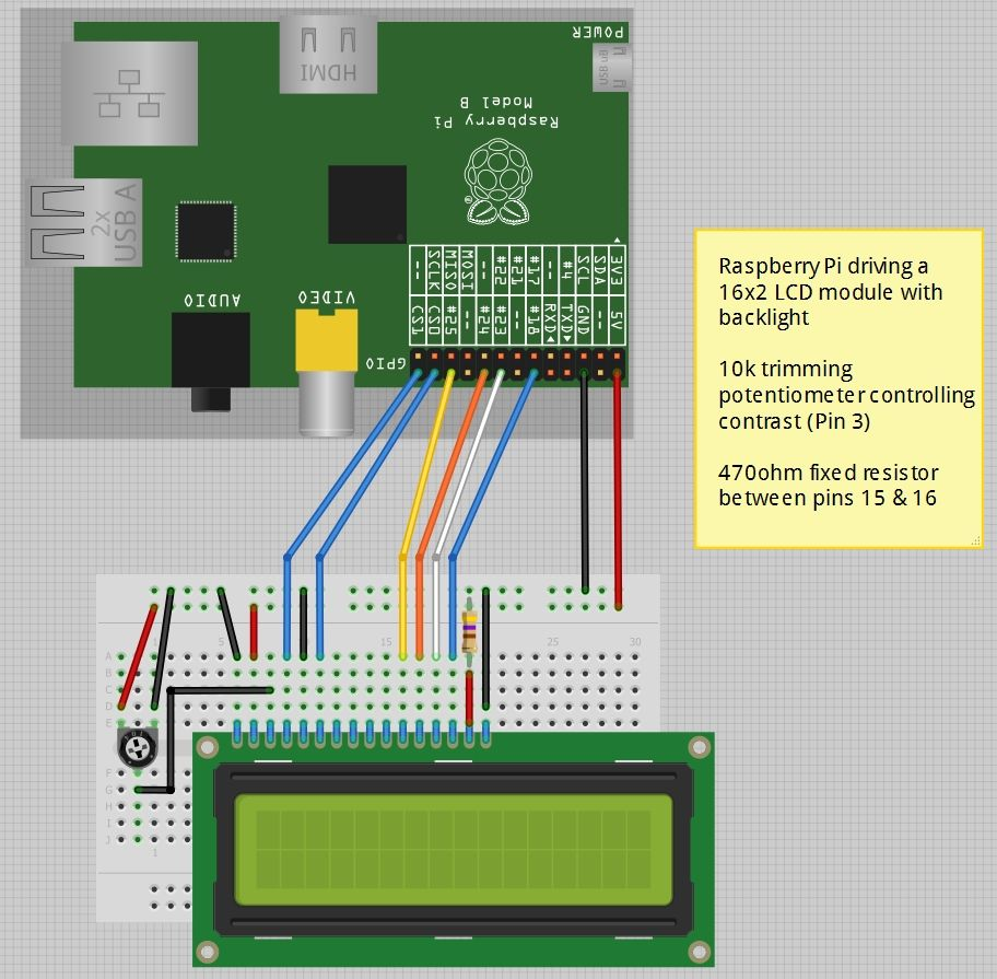 Fritzing Project Raspberry Pi 16x2 Lcd With Contrast Control Sensor Circuits Archives Page 2 Of Gadgetronicx