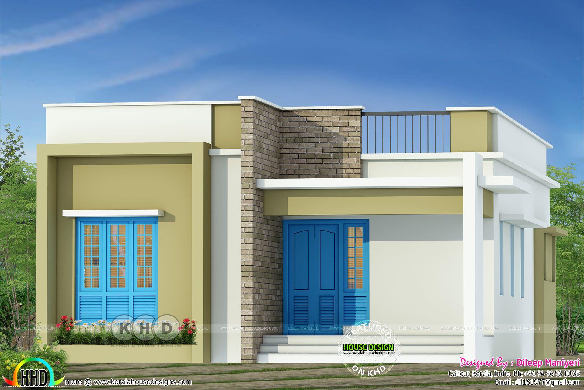 tiny kerala home design 900 sq ft kerala house design