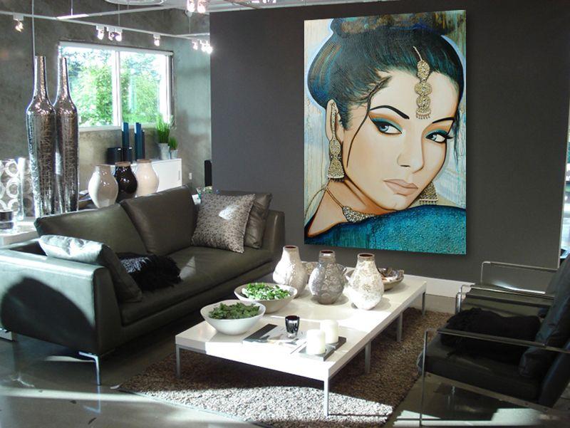 Zoekt u een groot schilderij voor in de woonkamer? een schilderij op ...