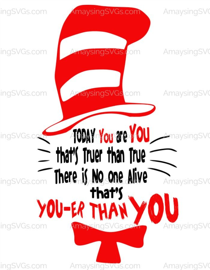 Dr Seuss SVG Perfect For Reading Week Cat In The Hats