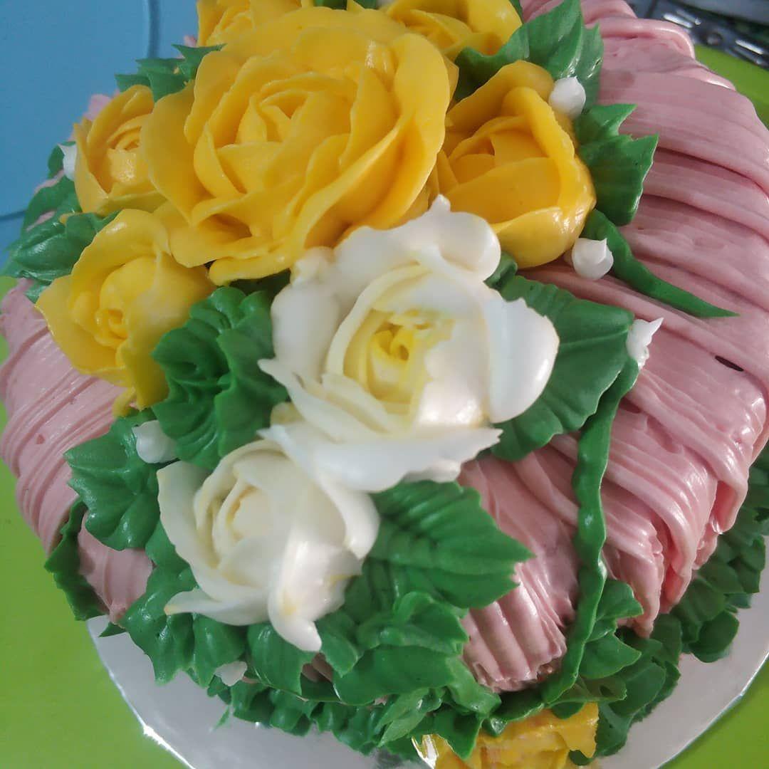 Kue Ulang Tahun Cake Kueulangtahun Berbunga Kueenak Kuemurah Buttercreamcake Cake