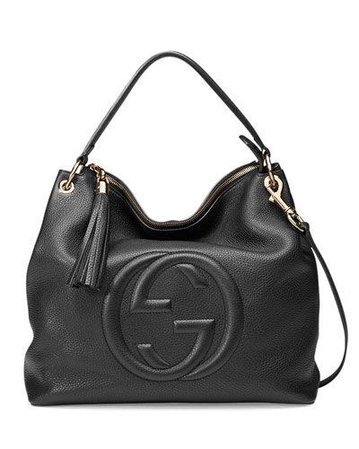 f52c95b2e67614 V2RA5 Gucci Soho Large Leather Hobo Bag, Black | •Wishlist• in 2019 ...