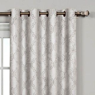 Bella Luna Newbury Lattice Room Darkening 84 Inch Grommet Curtain
