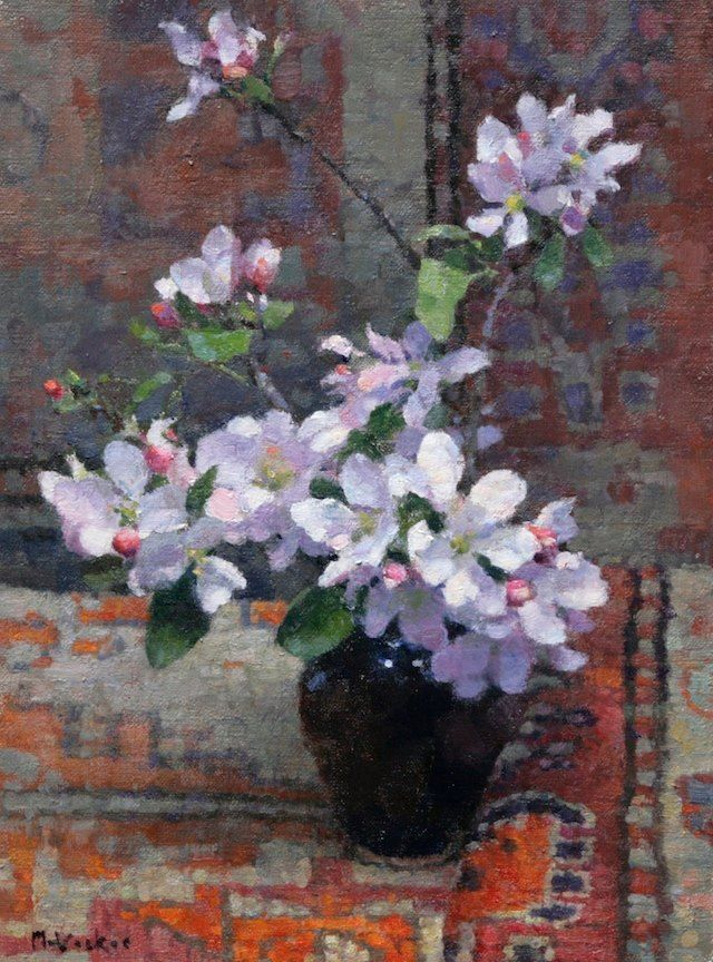 Jim McVicker 'Apple Blossoms' 12x9 oil on linen panel ...
