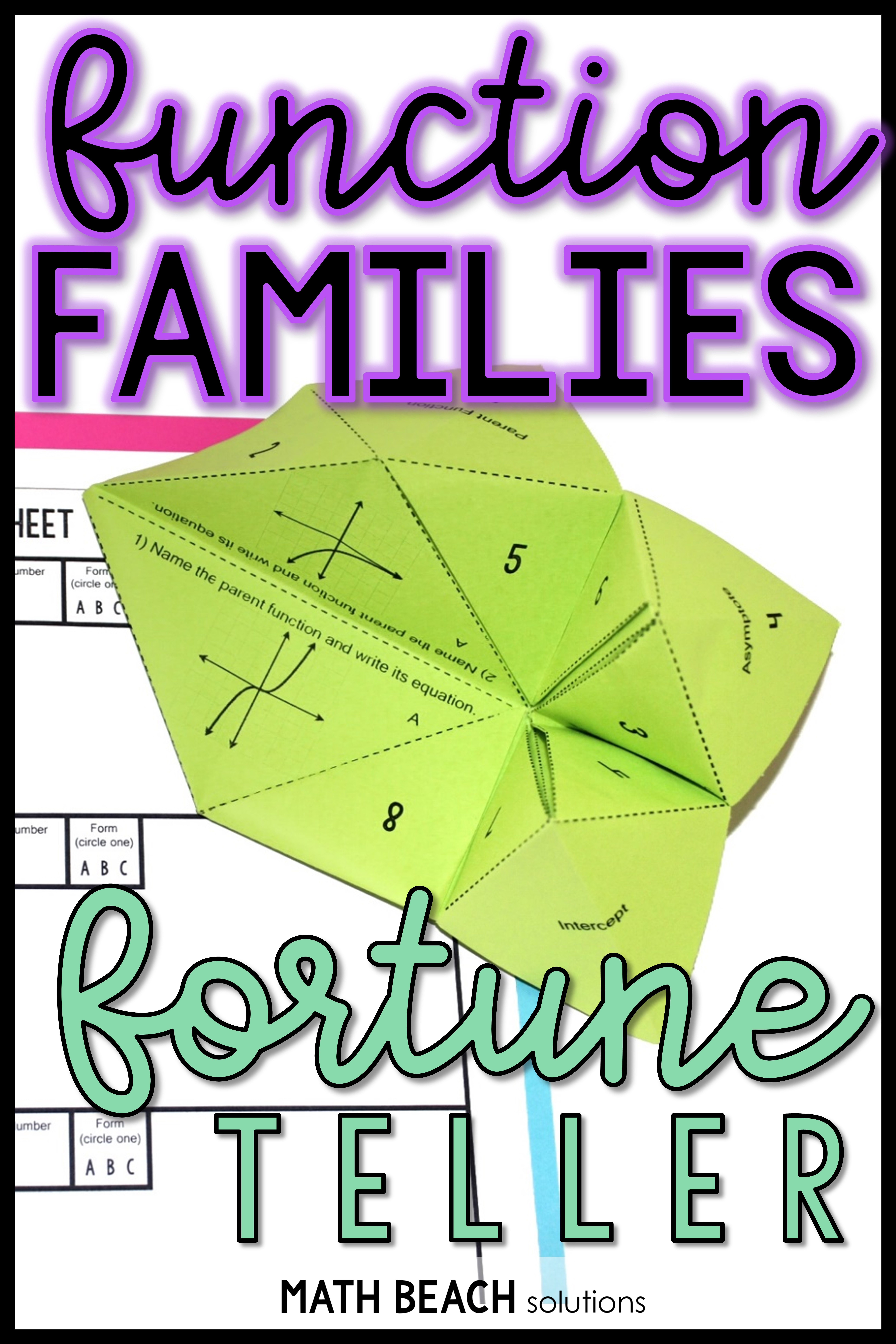 Function Family And Parent Function Fortune Teller