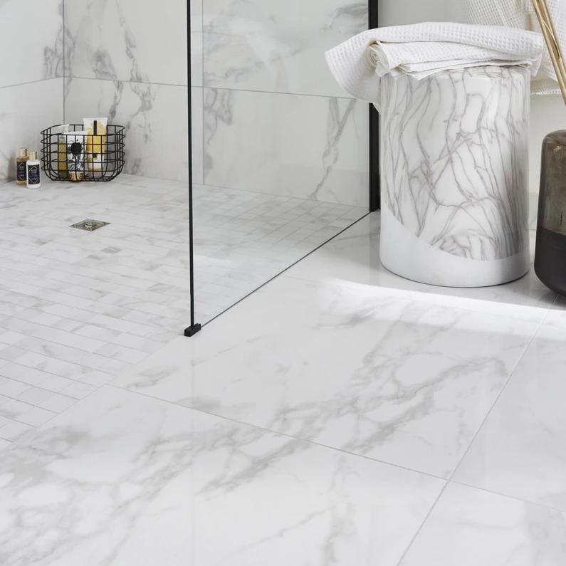 Carrelage Sol Et Mur Intenso Effet Marbre Blanc Carrare Murano L