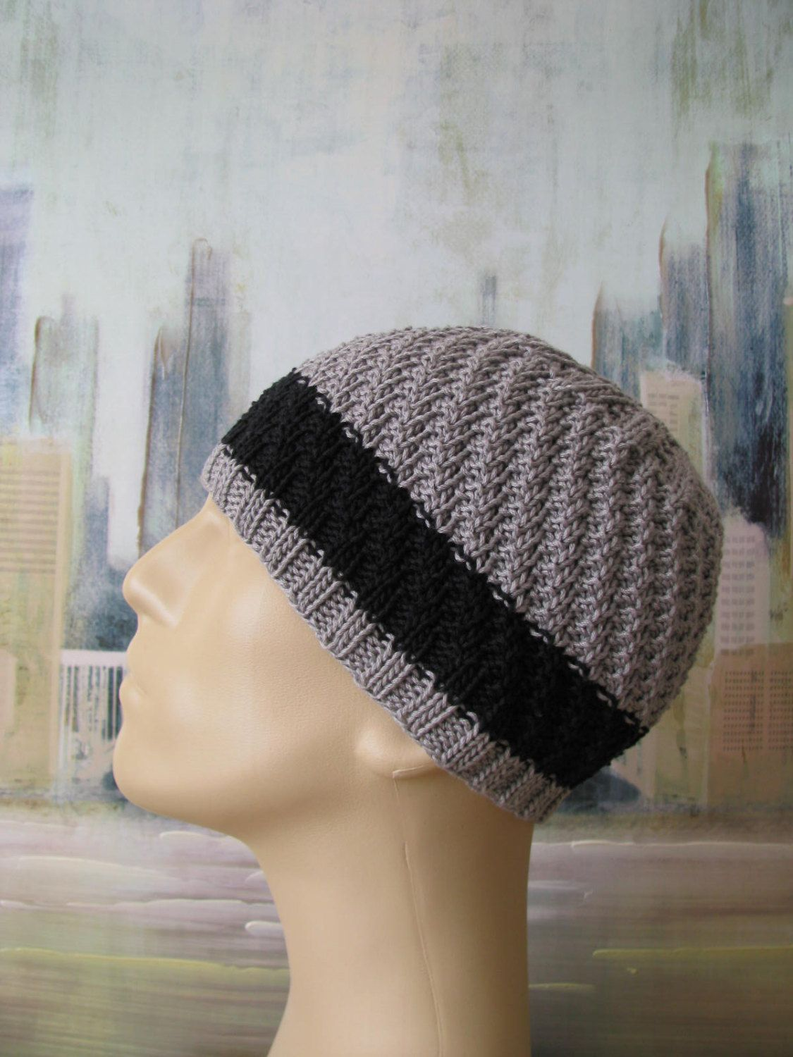 Men\'s Hat Pattern \'Fitz\', Men\'s Knitted Hat Pattern, or Chemo Hat ...