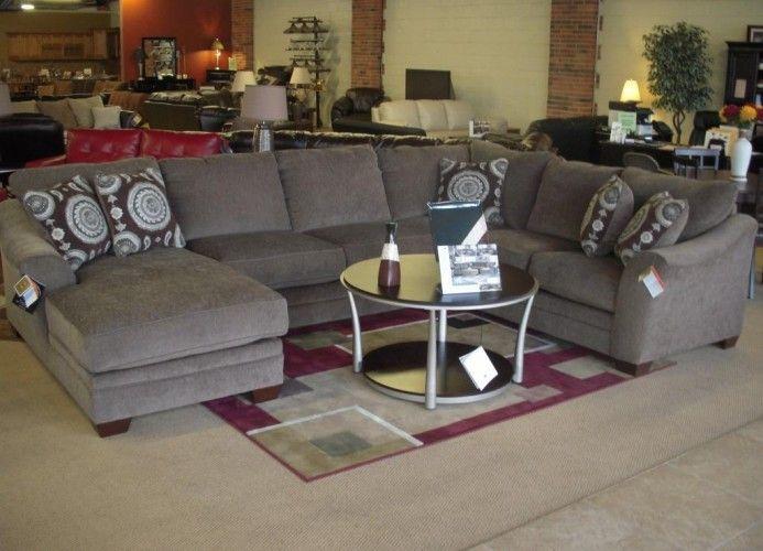 Huge U Shape Sectional Sofa W Chaise By Ashley Brand New