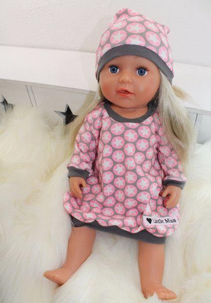 Puppenkleidung - ♥ Set Kleidchen + Mütze für Babyborn /Sister ♥ - ein Designerstück von -Little-Miss- bei DaWanda