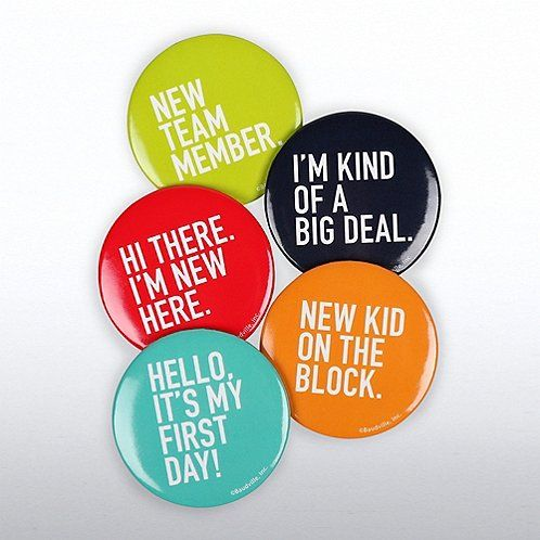 Onboarding Button Set for New Employees #employeeappreciationideas