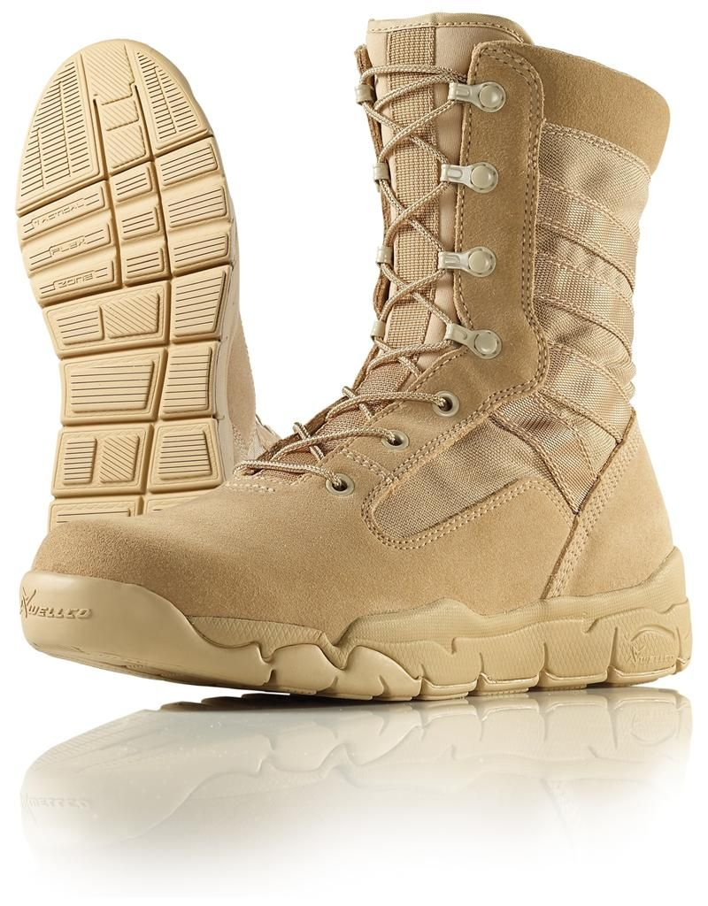 Wellco Tan Hot Weather E-Light Combat Boot - T120: Price-$129.95 ...