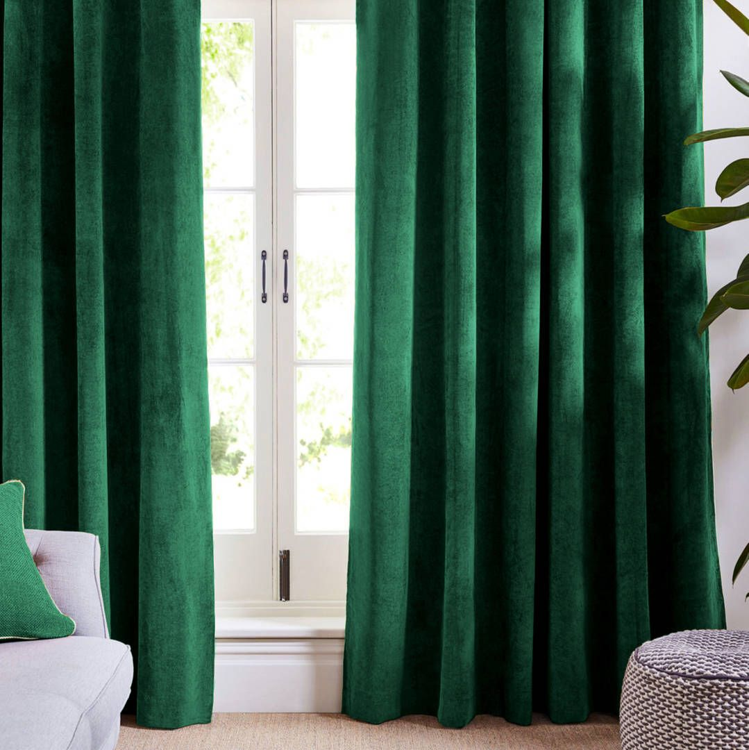 forest green velvet curtains and drapes greenish curtains panels natural window treatment french. Black Bedroom Furniture Sets. Home Design Ideas