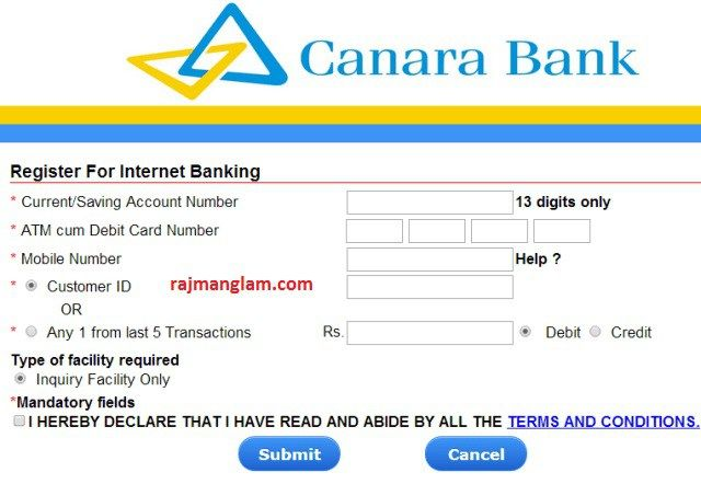 Canara Bank Internet Banking Activation Guide Banking Banking Services Online Learning
