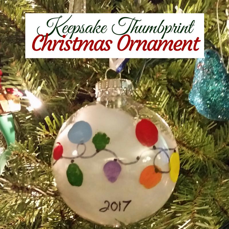 Easy Keepsake Thumbprint Christmas Ornament | Everything Kids ...