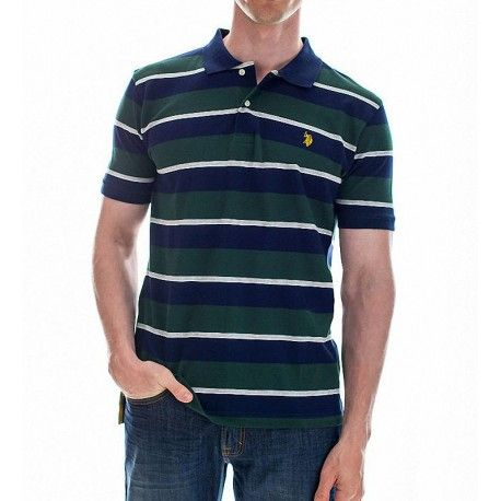 Polo US Polo Assn Striped Small Logo Moda Para Caballero f49b0107e56