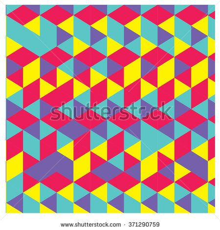 Vector Abstract Geometric Cube And Triangle Angular Colorful Pattern Amazing Angular Pattern