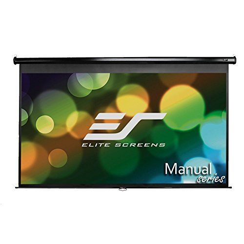 Elite Screens Manual 100 Inch 16 9 Pull Down Projection Manual Projector Screen With Auto Lock Pull Down Projector Screen Projector Screen Projection Screen