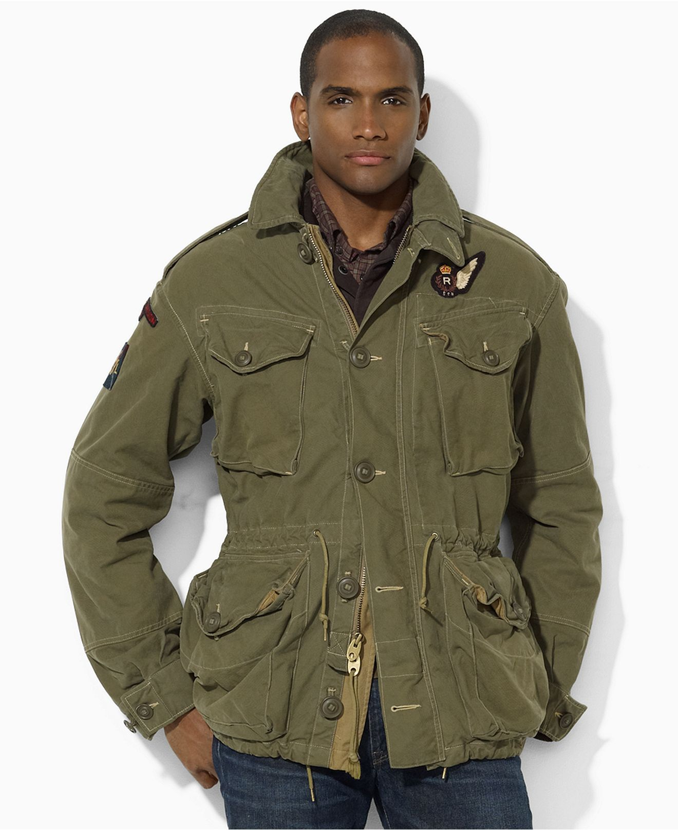 5c088ced7 Polo Ralph Lauren Jacket, Military Combat Jacket at Macy's ...