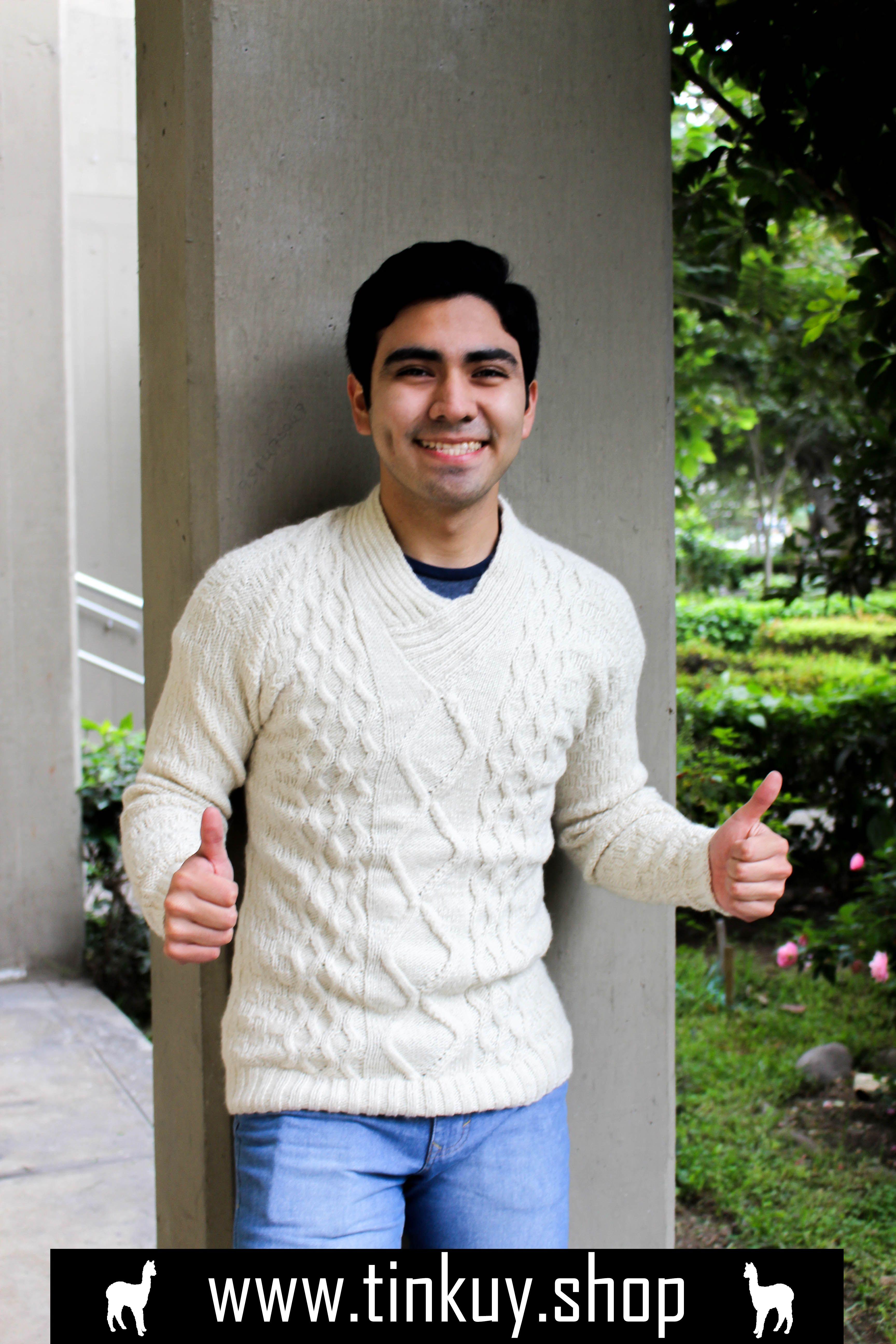 alpaca sweater for men, alpaca fleece sweater, white sweater