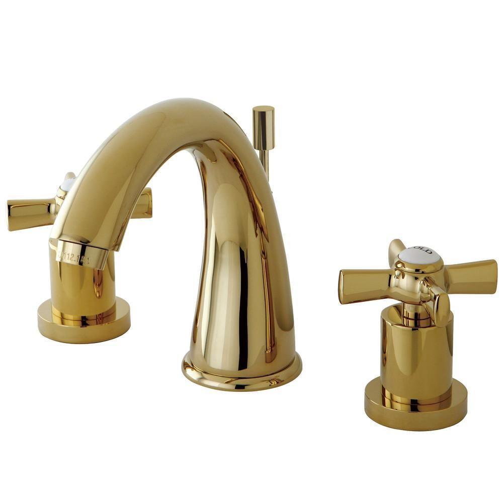 Kingston Brass KS2962ZX Widespread Bathroom Faucet Polished Brass ...