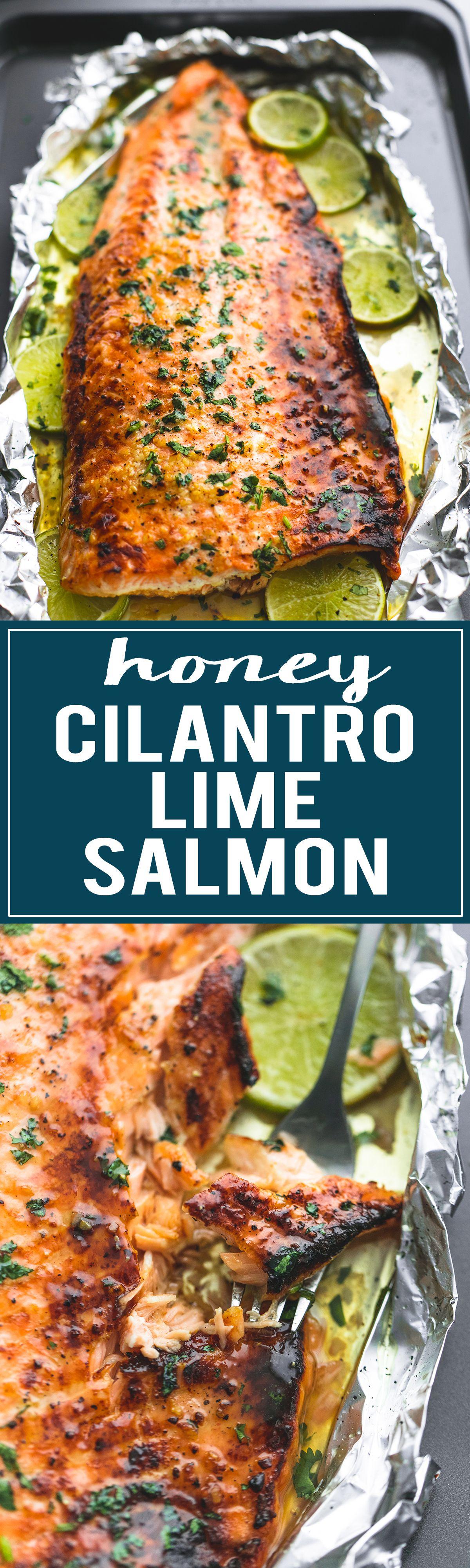 Photo of Baked Honey Cilantro Lime Salmon in Foil | Creme De La Crumb