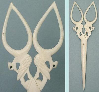 Antique Victorian Carved Bone Scissors W Bird Motif English Circa 1890 Ebay Bird Motif Scissors Bone Carving