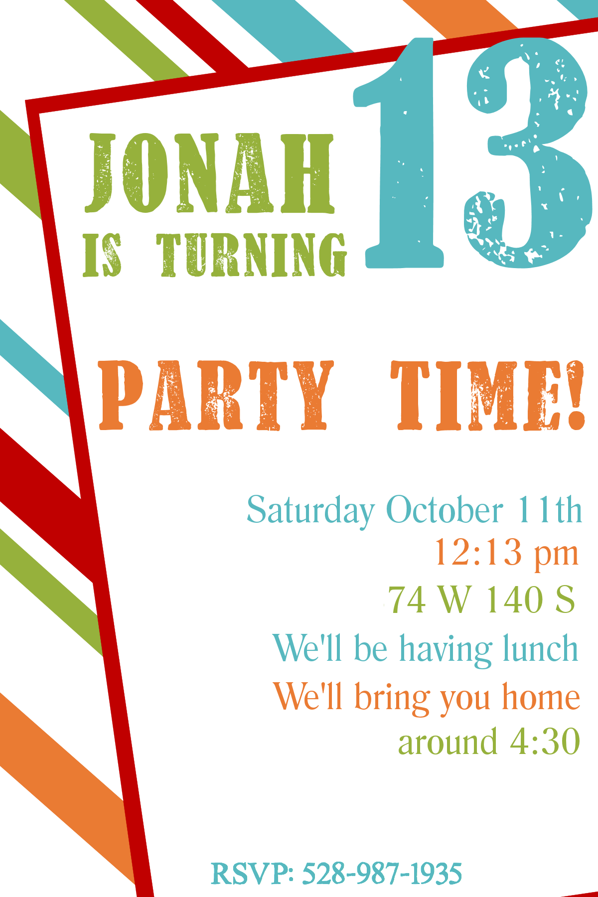 Free Printable Birthday Invitation Templates Party invitation
