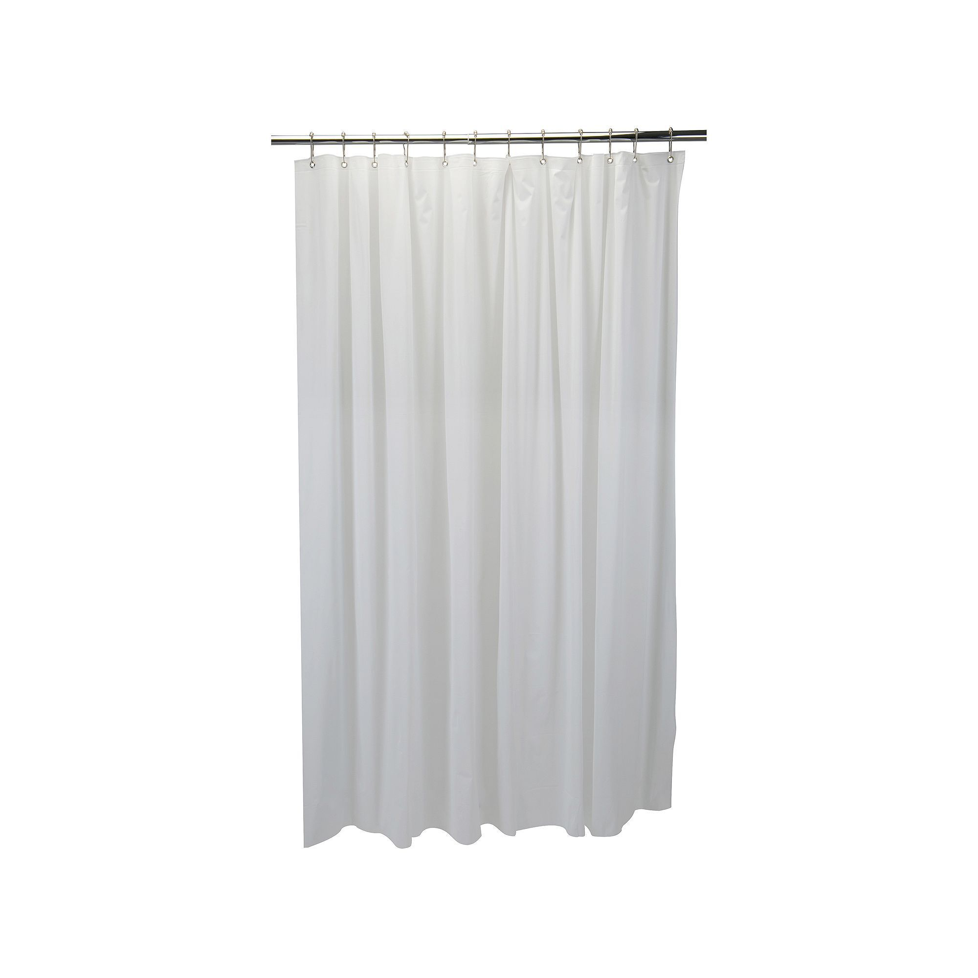 Bath Bliss White Mildew Resistant 6 Gauge Pvc Shower Curtain Liner Shower Liner Pvc Shower Vinyl Shower Curtains